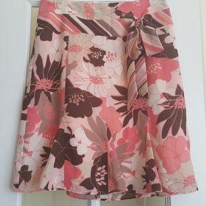 Ann Taylor Loft pink floral skirt